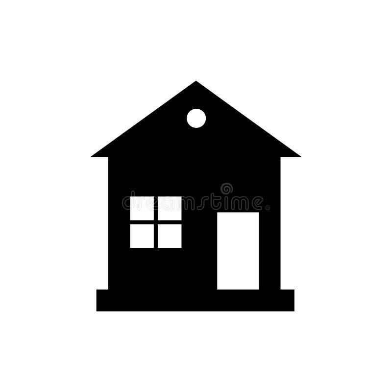 Dirija o ícone Casa Entre, o conceito bem-vindo Sinal da construção isolado no fundo branco Estilo liso na moda para o gráfico ilustração royalty free