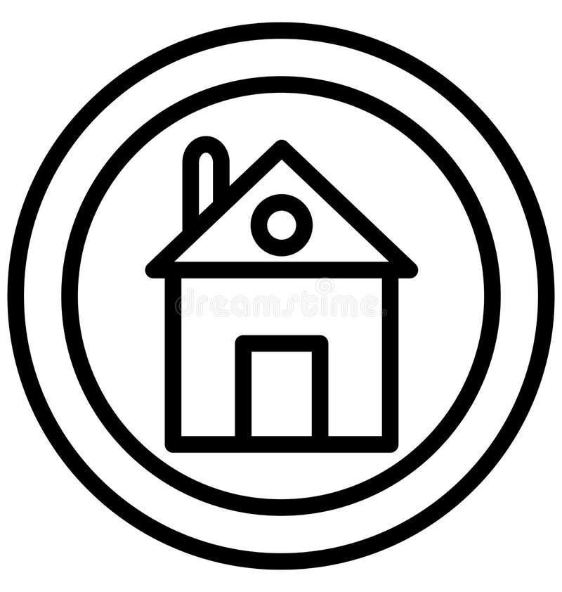 Dirija, o ícone isolado casa do vetor pode ser facilmente edita e altera ilustração stock