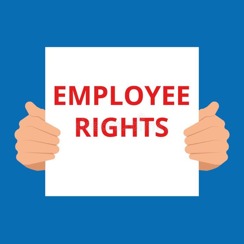 diritti degli impiegati del testo illustrazione vettoriale