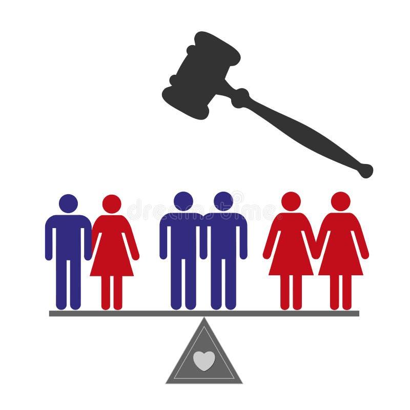 Diritti uguali illustrazione vettoriale