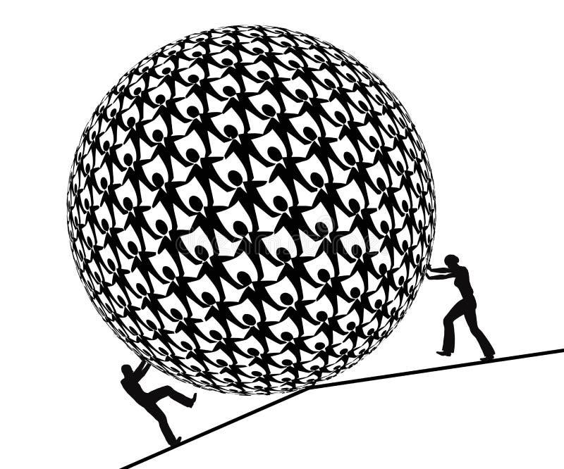 Diritti uguali in un mondo maschio illustrazione di stock