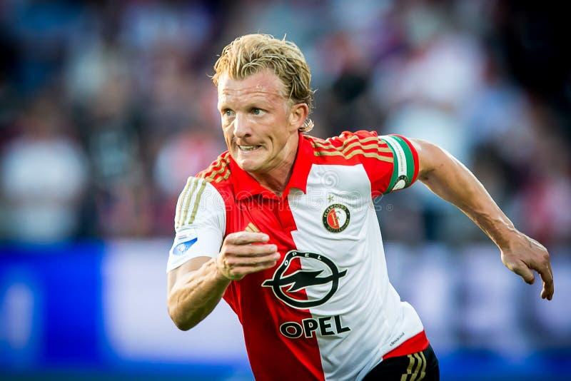 Dirk Kuyt spelare av Feyenoord Rotterdam arkivbild