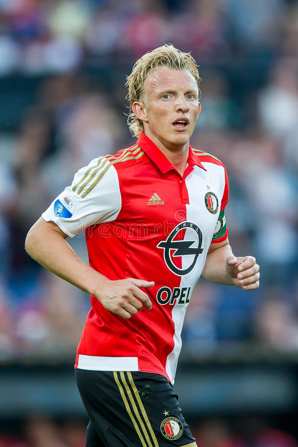 Dirk Kuyt-Spieler von Feyenoord Rotterdam lizenzfreie stockfotos