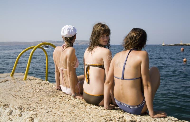 Dirls de l'adolescence photo libre de droits