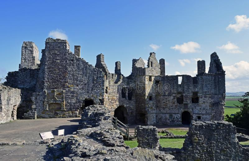 Dirleton castle Scotland and ghost stock photo