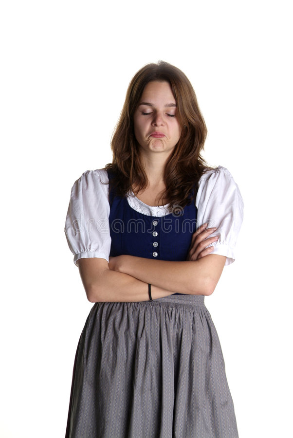 dirndl γυναίκα στοκ εικόνα με δικαίωμα ελεύθερης χρήσης