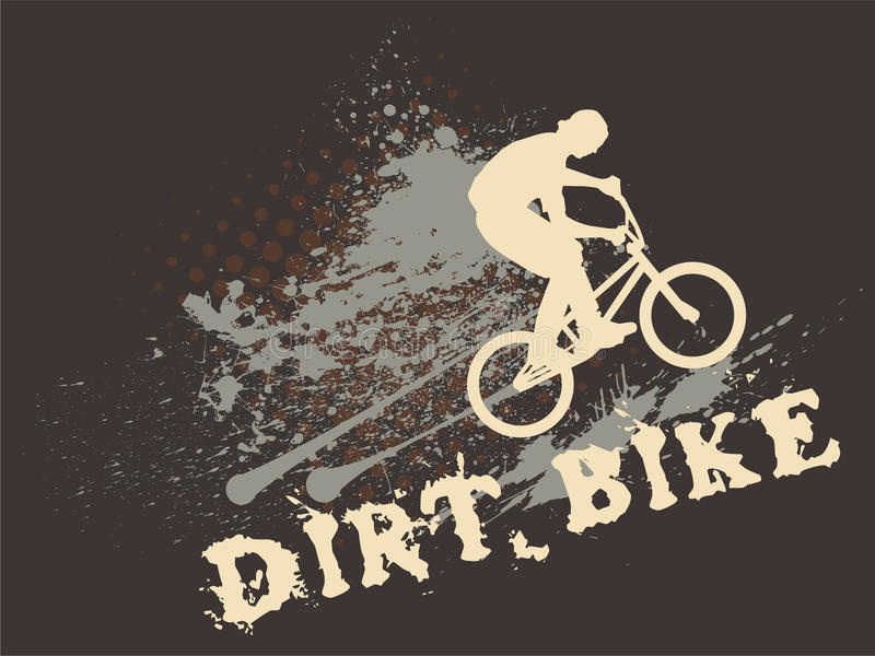 Download Dirt Bike stock vector. Illustration of copy, motion - 19558104