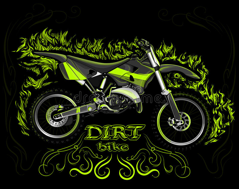Dirt bike royalty free illustration