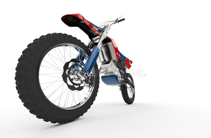Dirt Bike Red - Front Wheel Shot royalty free stock image