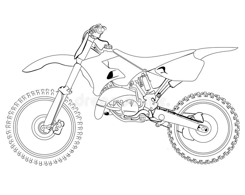 Dirt Bike Sketch Stock Photo Image Of Headlight