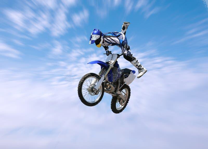 Dirt Bike Stunt Rider stock photos