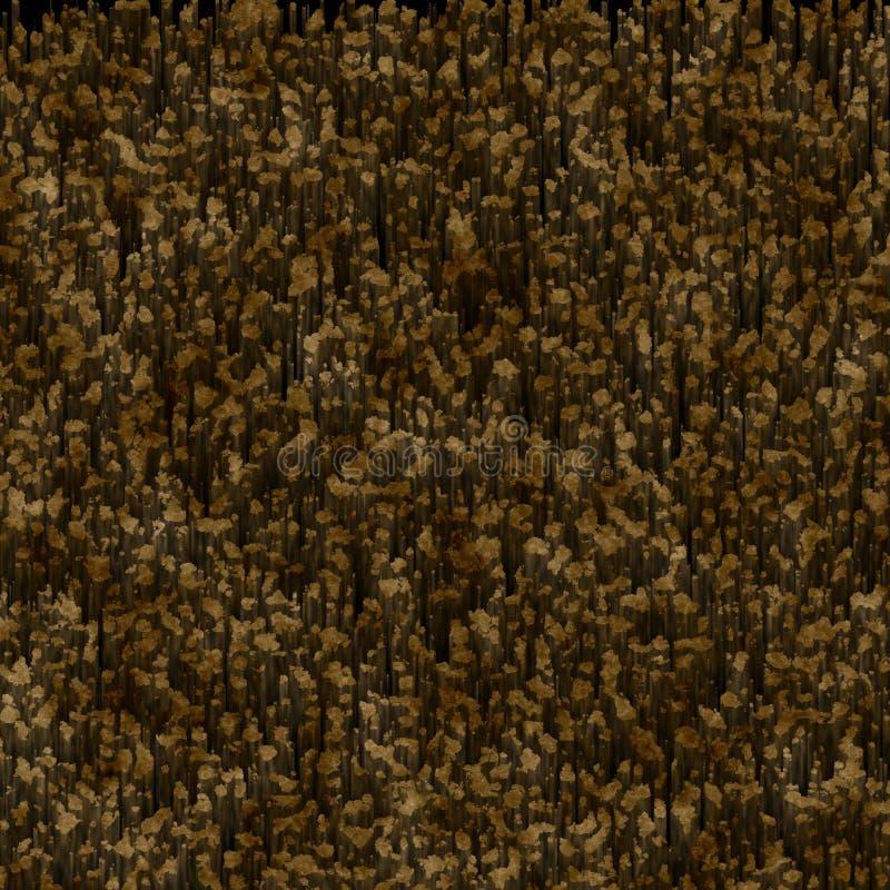Dirt Brown Black Moss Medium Rust royalty free illustration