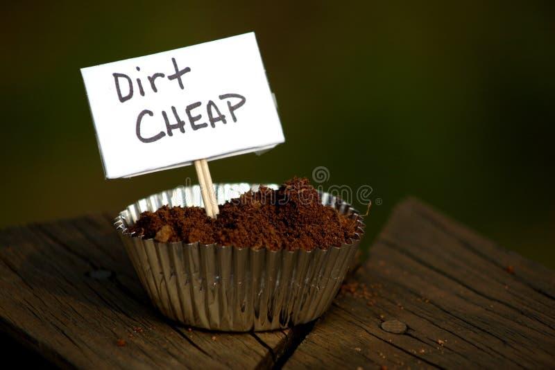 Dirt Cheap. An advertisement selling dirt, cheaply stock photo