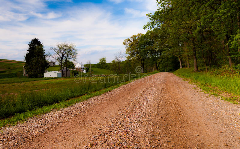 Dirt Country Road In York County, PA Royalty Free Stock Photos