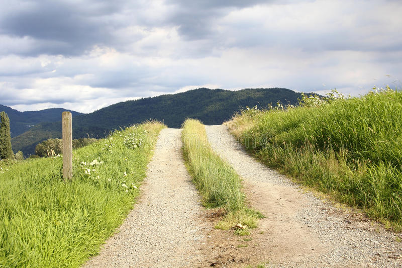 Dirt and Gravel Country Road stock image