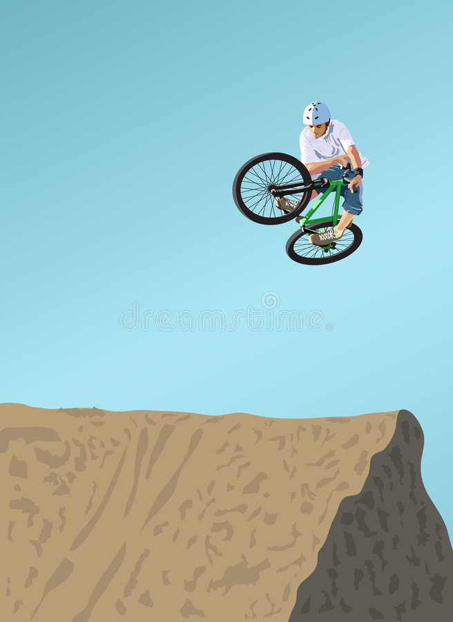 Dirt Jumping Royalty Free Stock Photography
