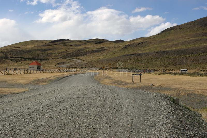 Dirt road in Chile stock photo