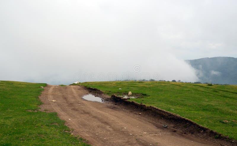 Dirt Road Mist royalty free stock photos
