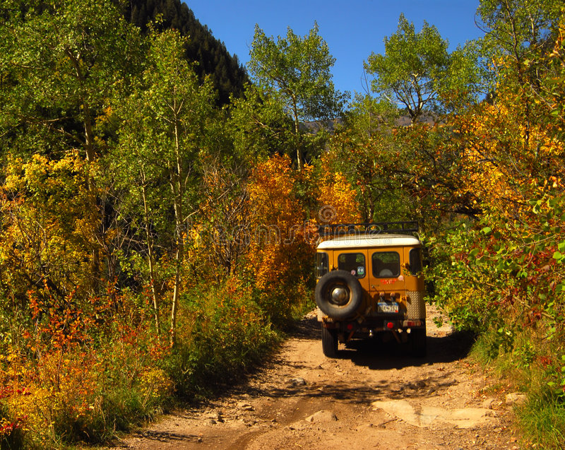 Download Dirt road and Jeep stock photo. Image of exploration, transportation - 7667734