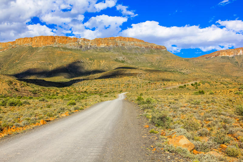 African gravel road stock photo