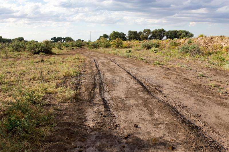 Dirt road in nature stock photography