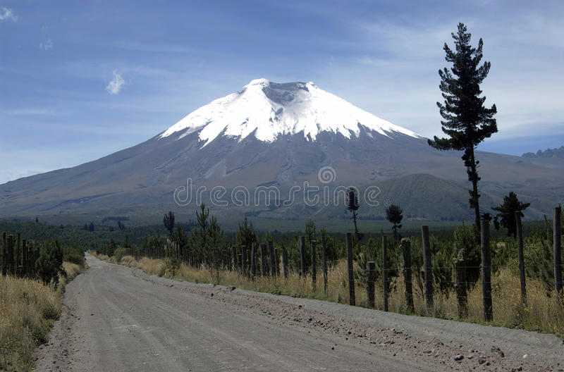 Download Dirt Road To The Cotopaxi Volcano Stock Image - Image: 16404657