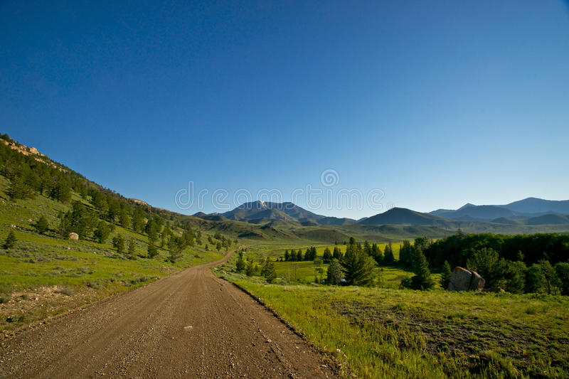 Dirt Road Into The Wilderness Royalty Free Stock Photography
