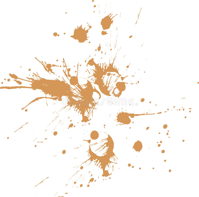 Dirt splash on paper or on flat surface. In random vector illustration