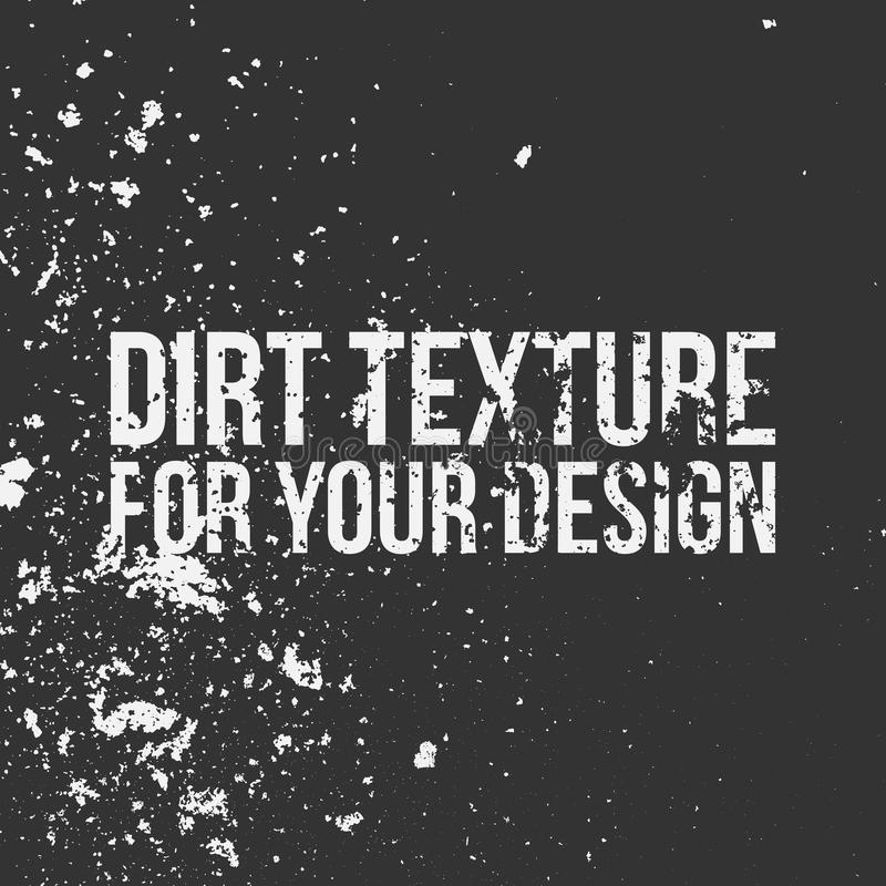 Dirt Texture for Your Design stock illustration