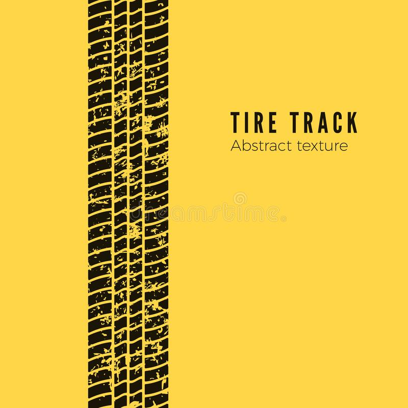 Free Dirt Track From The Car Wheel Protector. Tire Track Silhouette. Black Tire Track. Vector Illustration Isolated On Yellow Stock Photo - 144799150