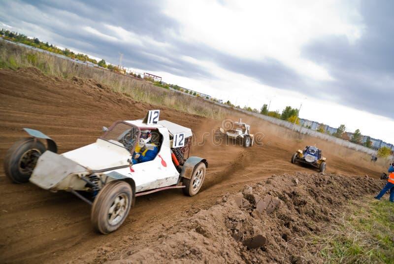Dirt Track Racing Stock Image