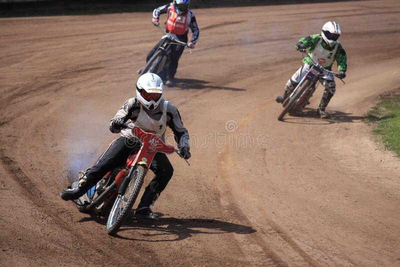 Dirt-track riders stock photos