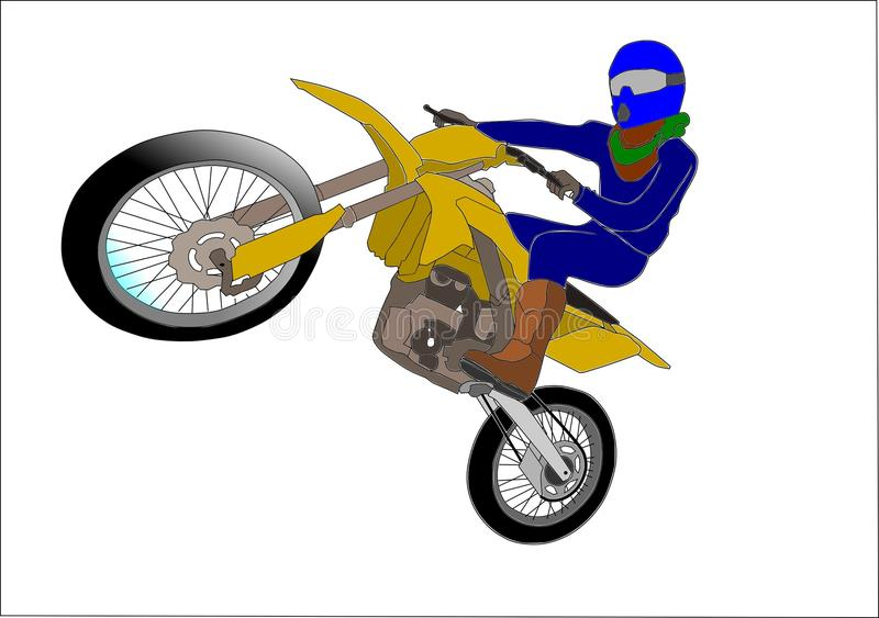 Dirtbike vektor illustrationer