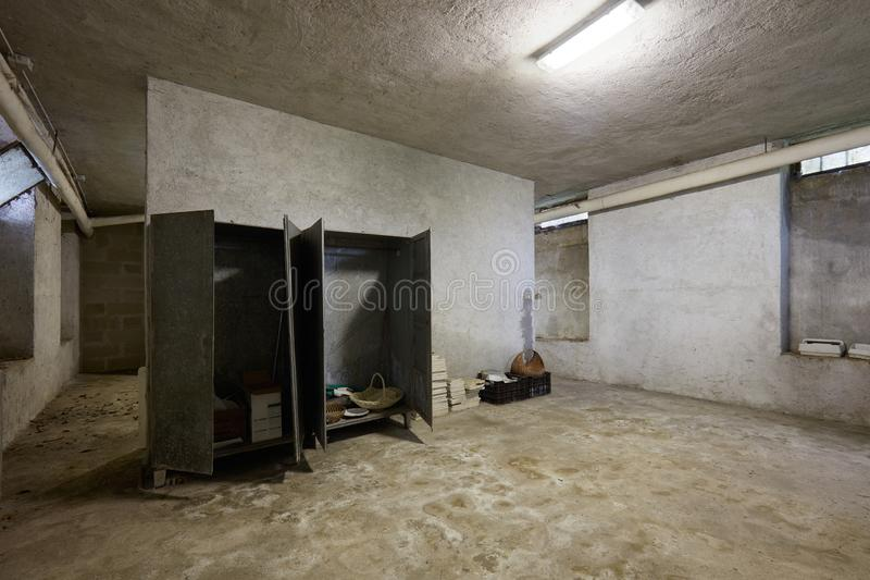 Dirty basement in old house interior. In Italy royalty free stock photos