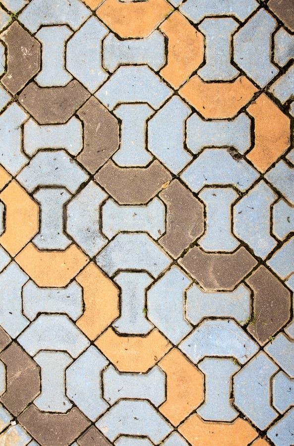 Free Dirty Brick Pattern Walkway. Royalty Free Stock Photo - 44012705