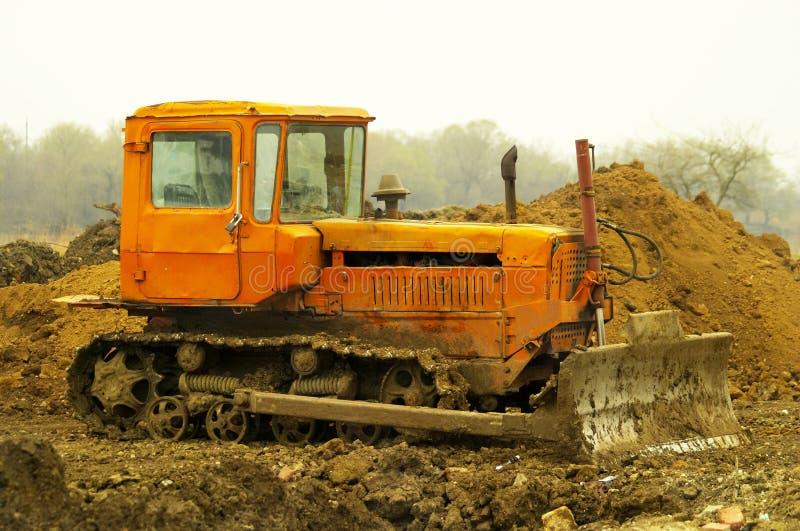 Dirty Bulldozer Stock Photography