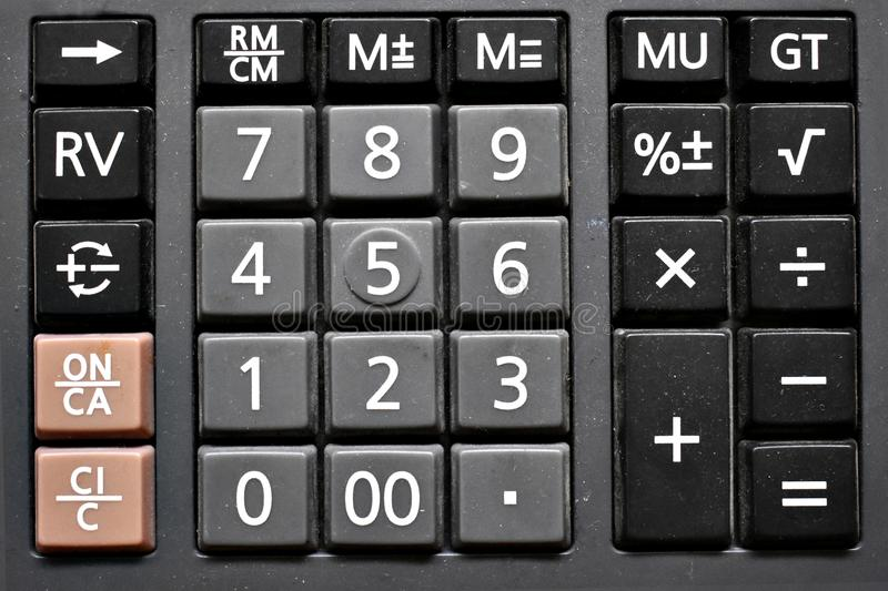 Dirty Calculator Keypad royalty free stock images
