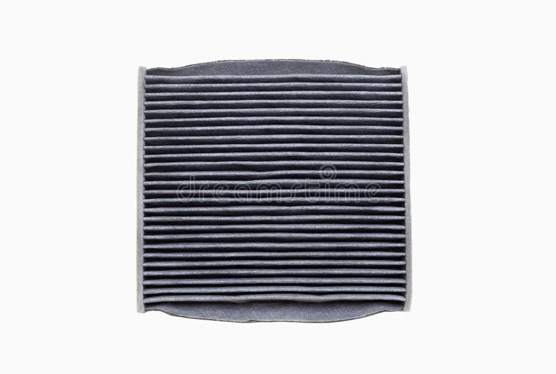 Dirty car air conditioning filter isolated on white background royalty free stock image