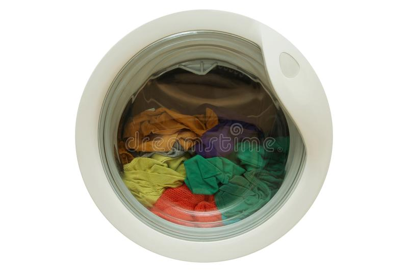 Download Dirty Clothes In Washing Machine Stock Photo - Image: 28097576