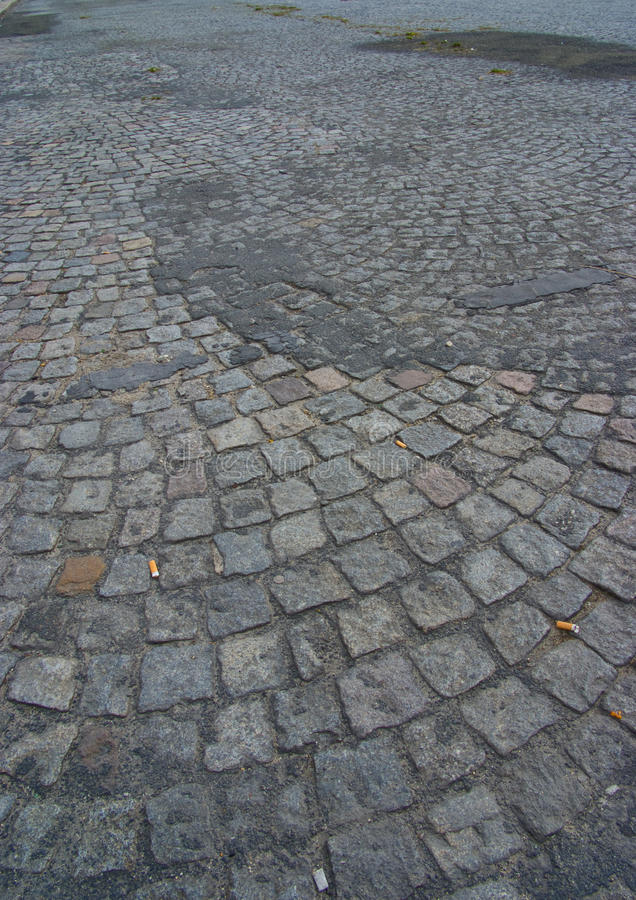 Download Dirty cobblestone road stock image. Image of pavement - 13019229