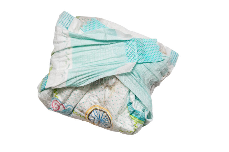 Dirty diapers royalty free stock photo