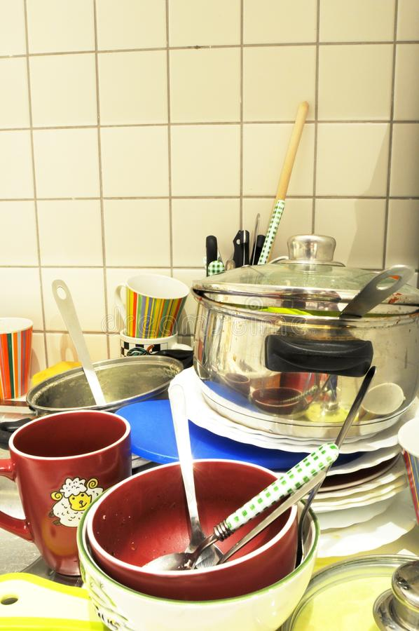 Download Dirty dishes stock photo. Image of kitchenware, kitchen - 14017180