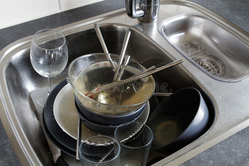 Dirty dishes royalty free stock image