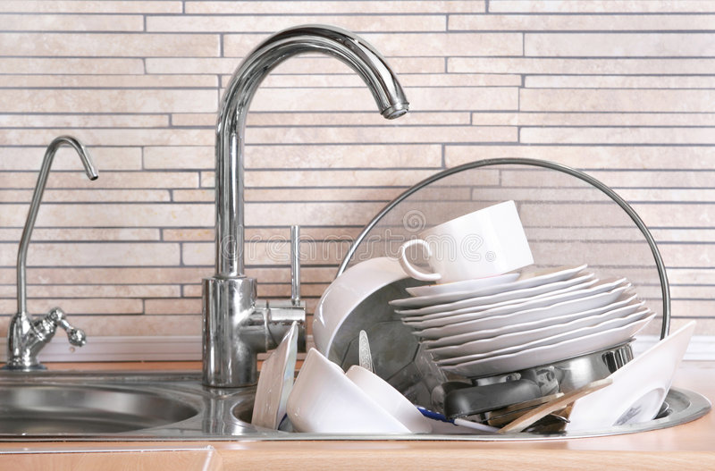 Download Dirty dishes stock image. Image of unwashed, unclean, cleaning - 8149573