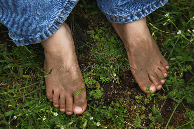 Dirty Feet royalty free stock photos