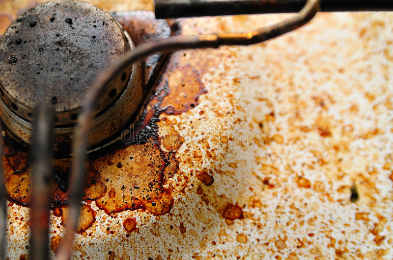 Download Dirty Gas Stove With Coffee St Stock Photography - Image: 5721152