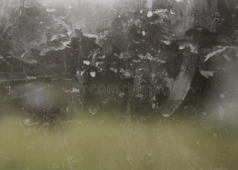 Dirty glass window stock images
