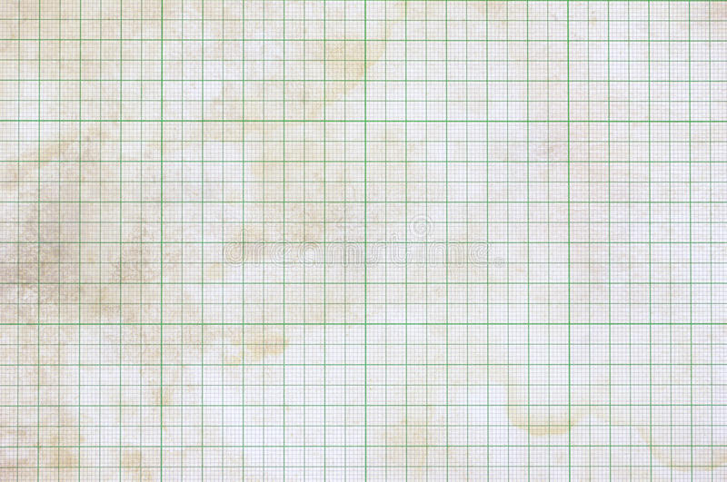 Dirty graph paper. Old vintage dirty graph paper royalty free stock image