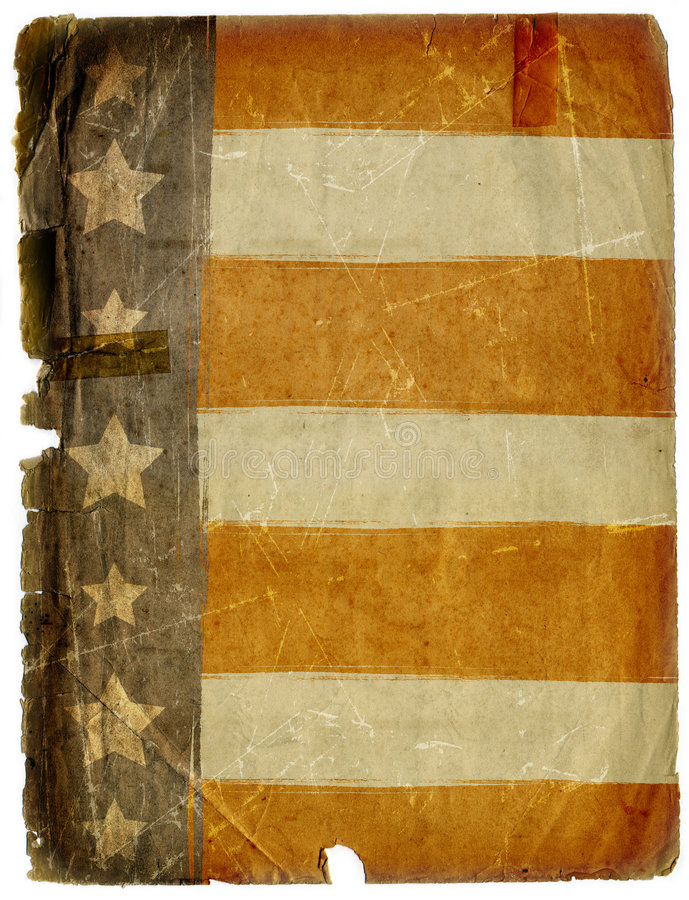 Dirty Grunge American Flag Paper Background Texture vector illustration