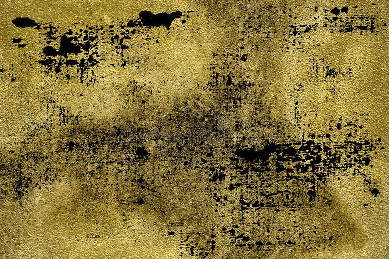 Grunge dirty Ultra yellow Concrete cement texture, stone surface, rock background stock photo